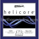 Helicore Orchestral double bass strings 3/4 SET-save on full set