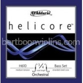 Helicore Orchestral double bass string 3/4 D