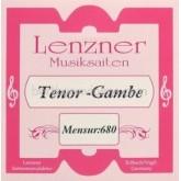 Lenzner Bas-Tenorgamba snaren SET mns. 68cm. (Setkorting)