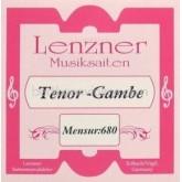 Lenzner Bas-Tenorgamba (mns. 68cm) snaar D6