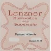 Lenzner Diskant gamba snaar (mns.38 cm) D6
