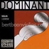 Dominant violin string fractional sizes (3/4-1/16) E