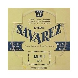 Savarez gitaarsnaar E1 Carte Jaune, extra hard
