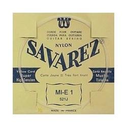 Savarez Guitar string E1 Carte Jaune, extra hard tension