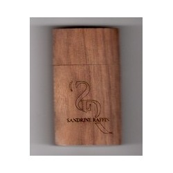 Sandrine Raffin hars in houten houder