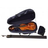 Reiskoffer voor viool, losse strijkstokkoker.