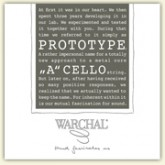Warchal Prototype cello...