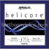 Helicore Hybrid double bass strings 3/4 SET-save on full set