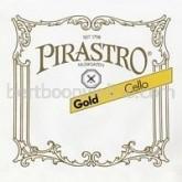 Gold cello string D