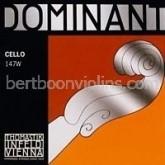 Dominant cello string fractional sizes G