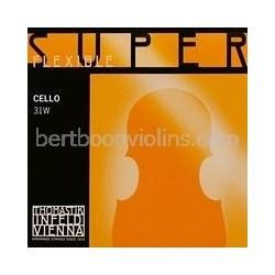 Superflexible cellosnaar D chroom