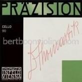 Praezision cello naar klein C